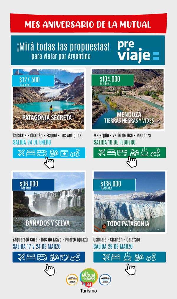 Propuestas para viajar por Argentina