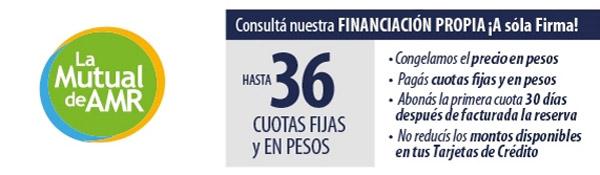 Hasta 36 cuotas fijas y en pesos